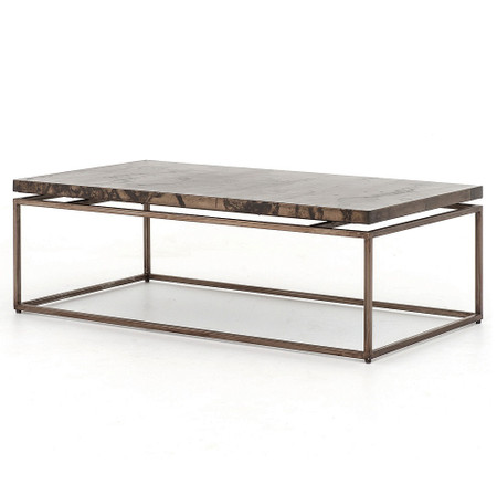 Living Room Coffee Tables Roman Box Frame Industrial Iron Coffee Table