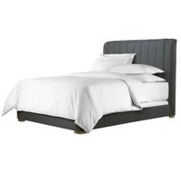 York Wool Upholstered Platform Bed Frame
