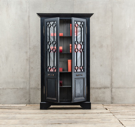 Van Thiel The Johnny Walker 2 Doors Black Cabinet Zin Home