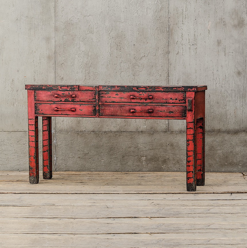 Red Console Table van thiel the randall silversmith red console table | zin home