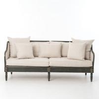 Van Thiel Baroness Josephina's Linen Upholstered Sofa