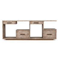 Debbie Driftwood 4 Drawer Ledge Media Console