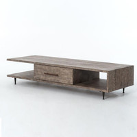 Elton Driftwood Low Coffee Table with Drawer