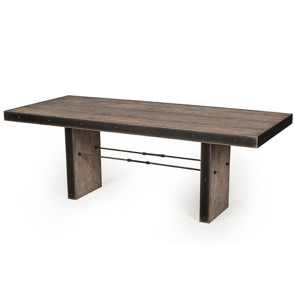 ... Bina Gerard Driftwood + Iron Dining Room Table ... - Gerard Driftwood Oak + Iron Dining Room Table Zin Home
