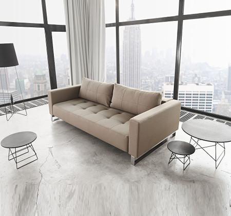 Modern Cassius Deluxe Excess Lounger Sleeper Sofa Bed Queen