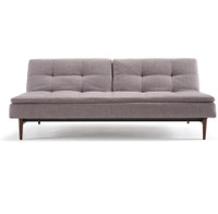 Innovation Modern Dublexo Upholstered Convertible Grey Sofa Bed with Wood Legs