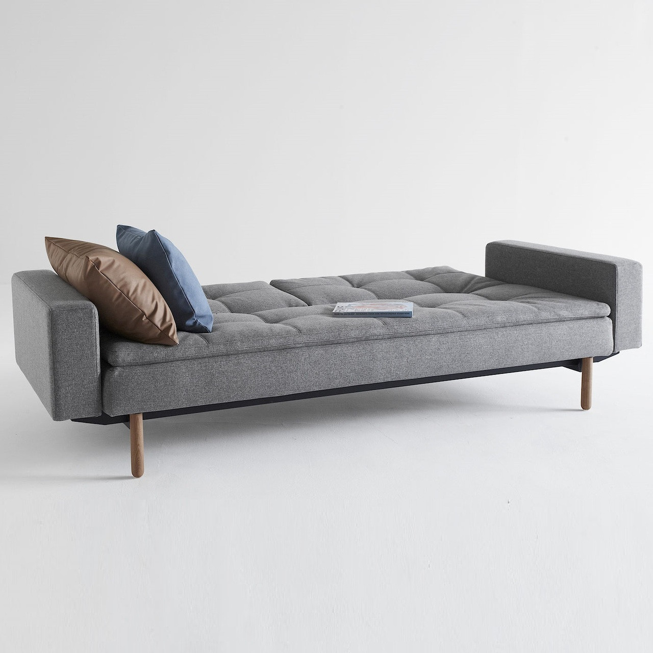 modern dublexo sleeper sofa bed with arms  zin home - innovation modern upholstered dublexo sleeper sofa bed with arms in greyfabric with