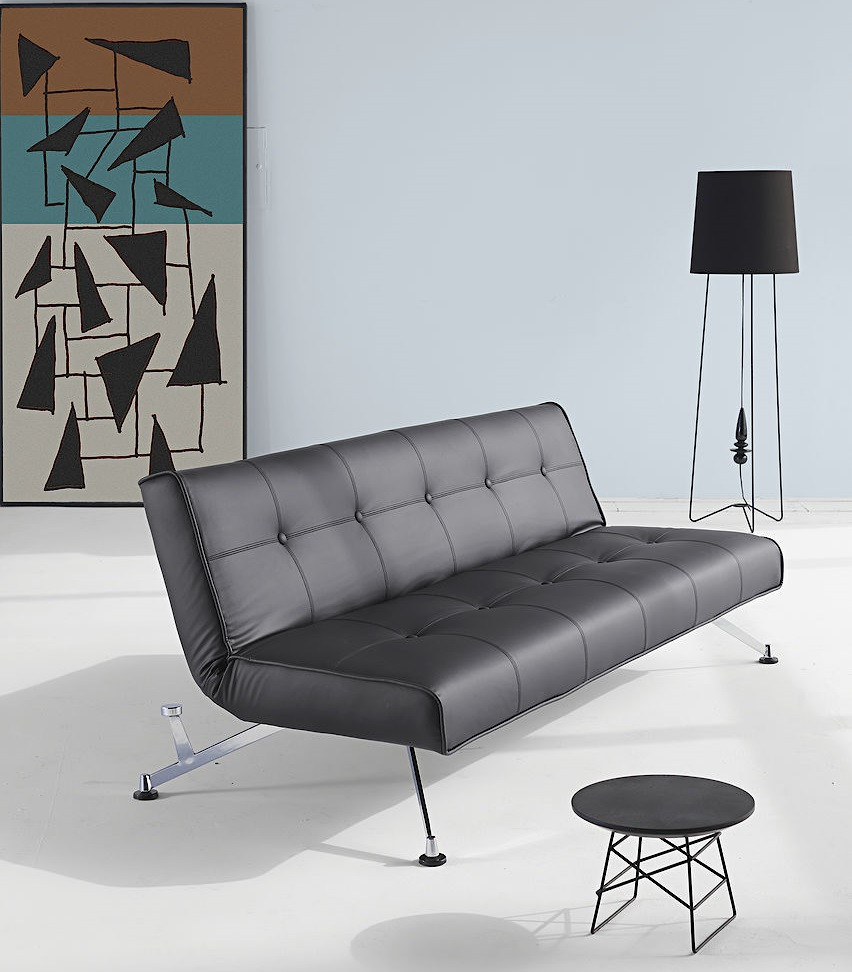 Modern Clubber Leather Convertible Sofa Beds Zin Home