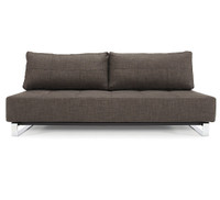 Supremax Deluxe Excess Full Size convertible sofa in Brown Upholstery