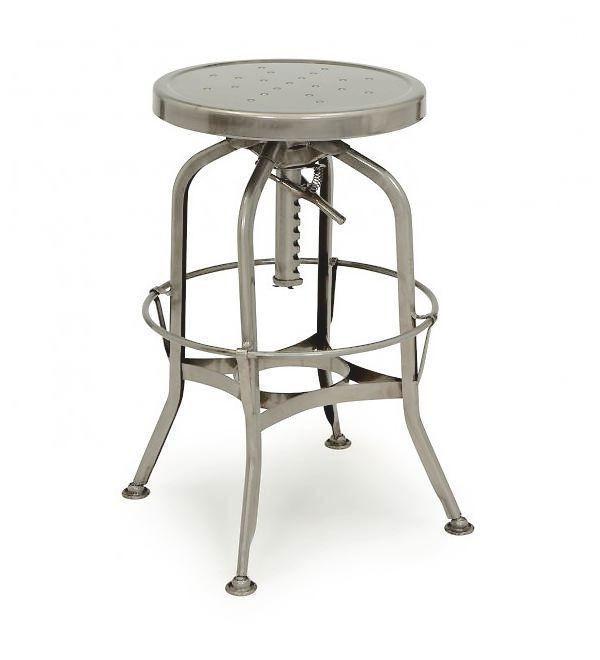 toledo gunmetal adjustable industrial bar stool