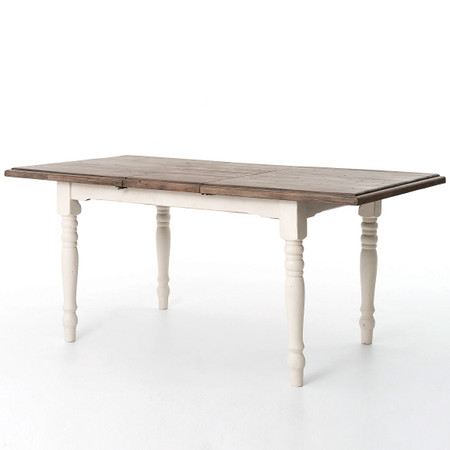 cottage white extendable dining room table 71 zin home