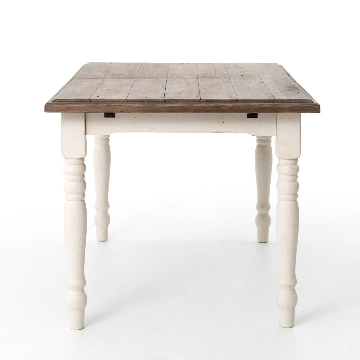 cottage white extendable dining room table 71