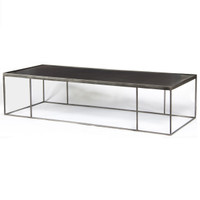 Theory Long Steel Rectangular Coffee Table 70""