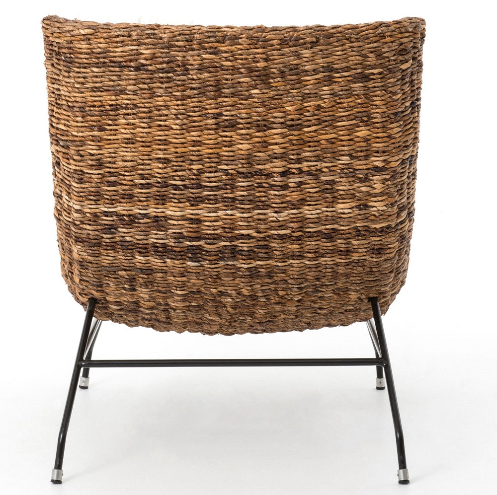 Banana leaf woven alik accent chair zin home