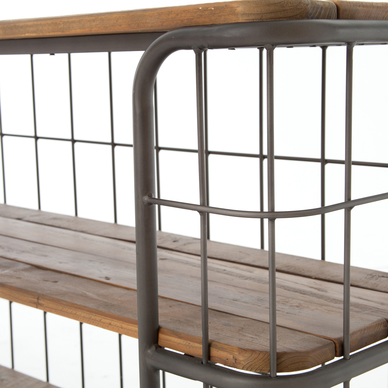 Rollins Industrial Loft Bronze Iron Console Table: Industrial Rustic Black Metal + Wood Baker Console Table