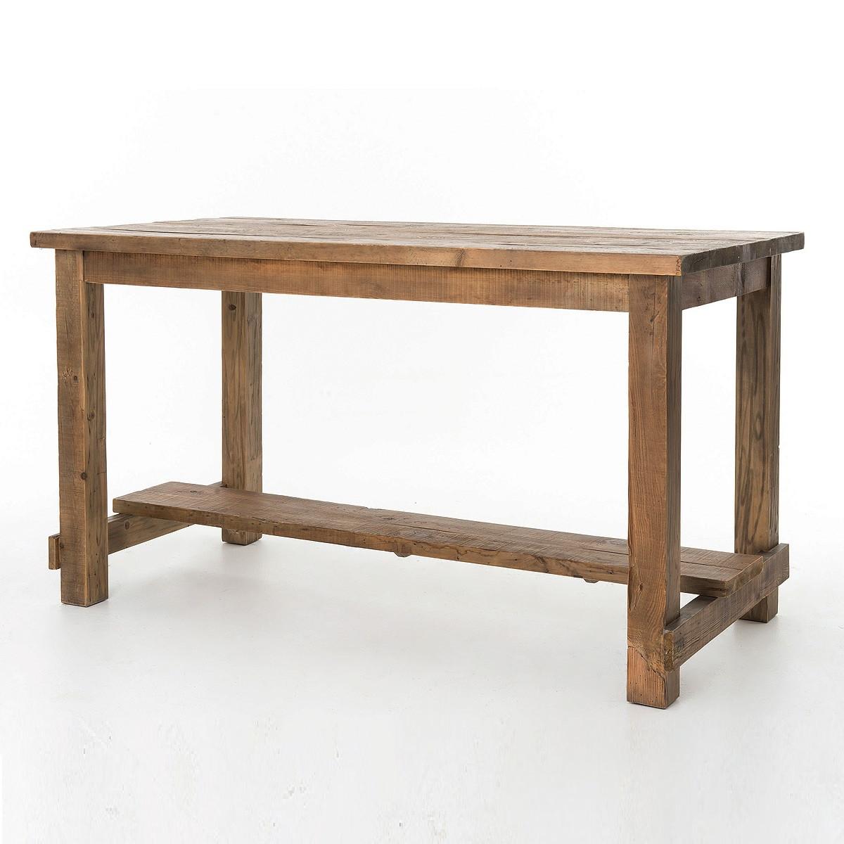 ... Cecil Farmhouse Reclaimed Wood Pub Table ... - Cecil Farmhouse Reclaimed Wood Bar Pub Table Zin Home
