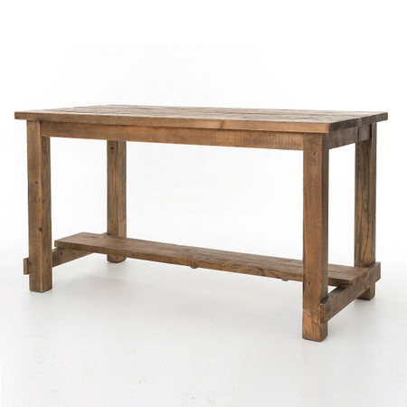Cecil Farmhouse Reclaimed Wood Bar Pub Table Zin Home