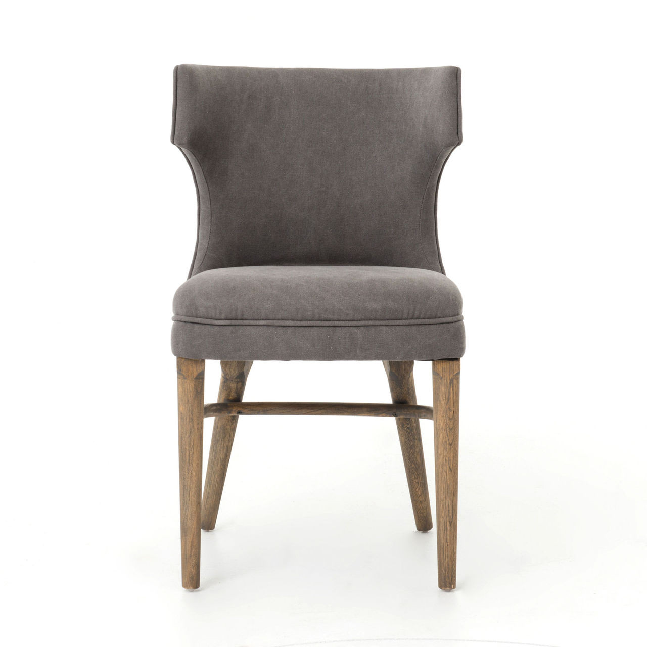 Task dark gray nailhead wing dining chair zin home - Nailhead dining room chairs ...