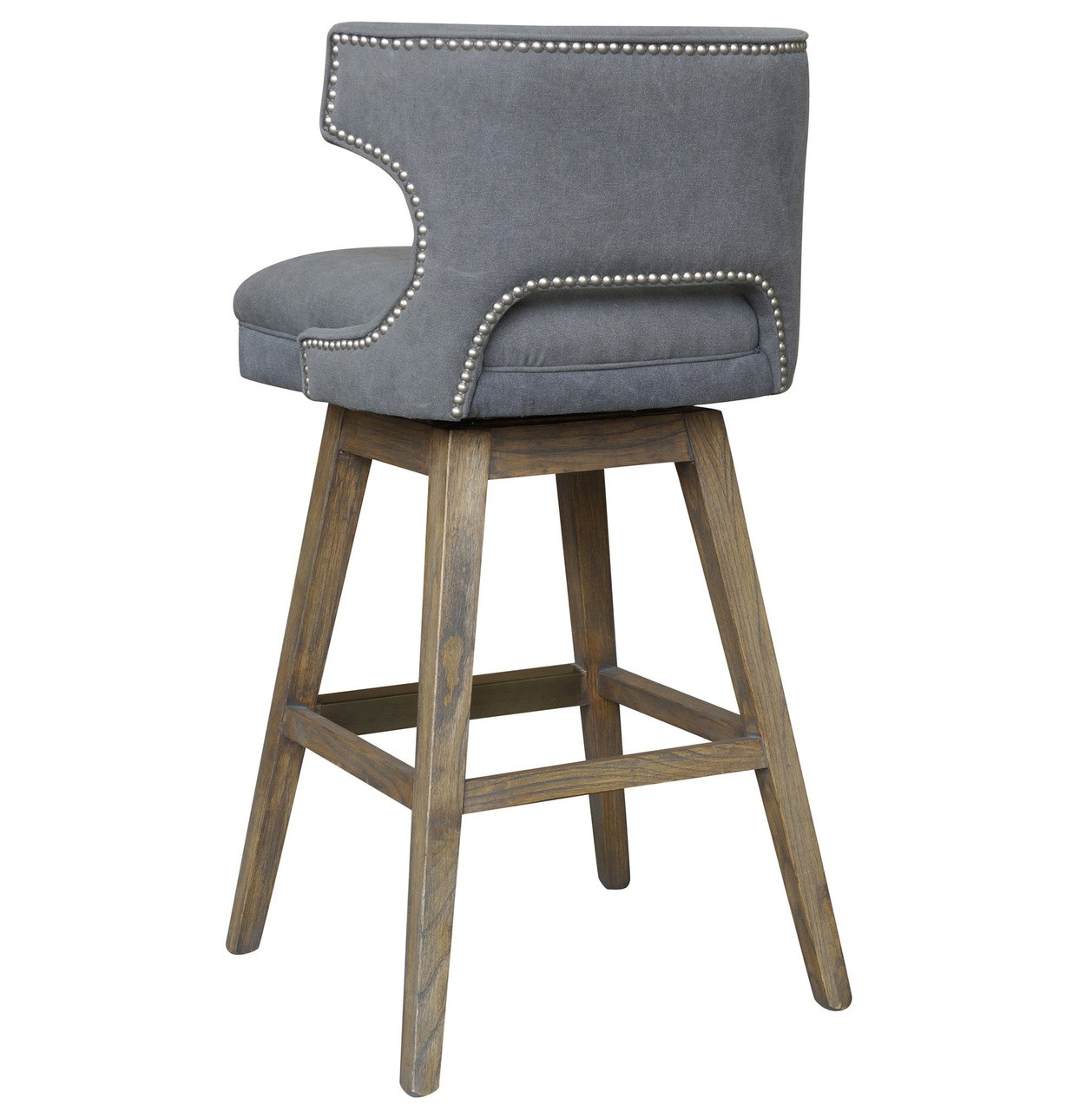 Task Dark Gray Upholstered Nailhead Wing Counter Stool  : TaskDarkGrayNailheadWingSwivelBarStools70769143026775112801280 from www.zinhome.com size 1258 x 1280 jpeg 197kB