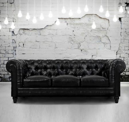zahara tufted black leather chesterfield sofa zin home. Black Bedroom Furniture Sets. Home Design Ideas