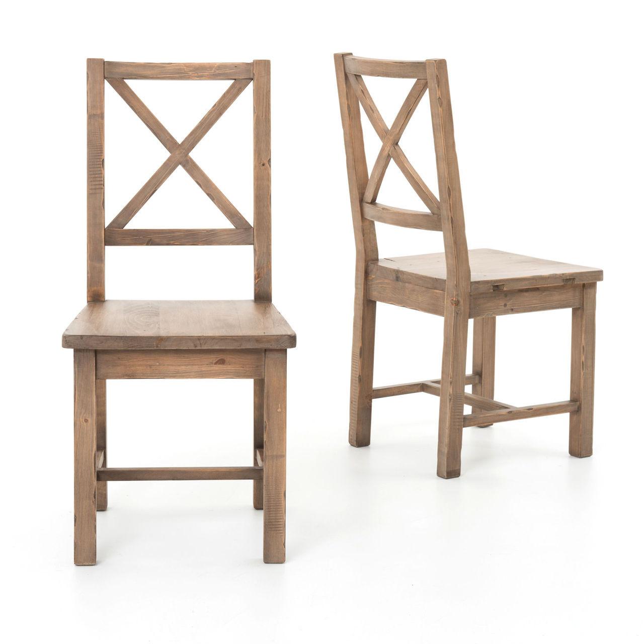 wood dining room chair | Coastal Rustic Solid Wood Dining Room Chair | Zin Home