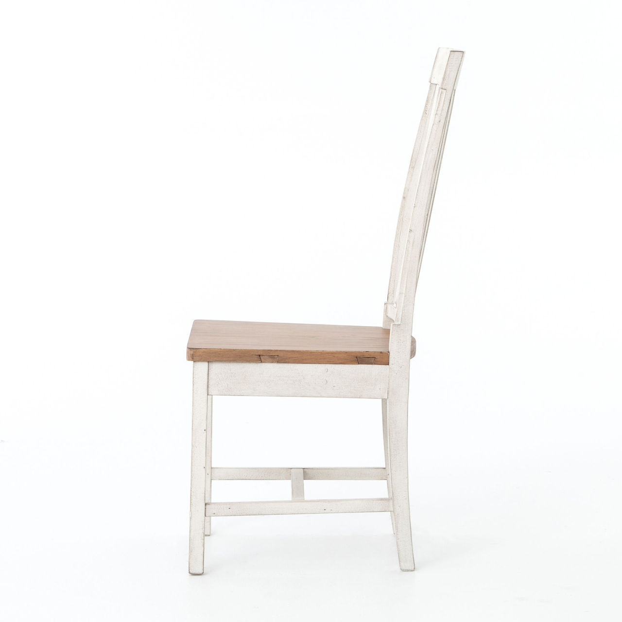 cintra rustic wood white dining room chair zin home cintra rustic white wooden dining room chair