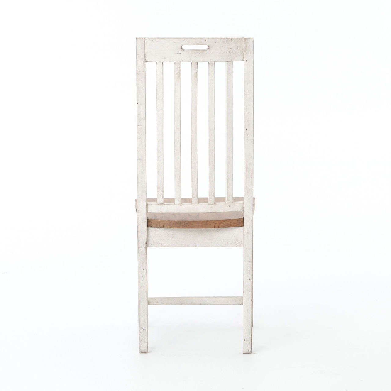cintra rustic wood white dining room chair zin home cintra rustic wood dining room chair white