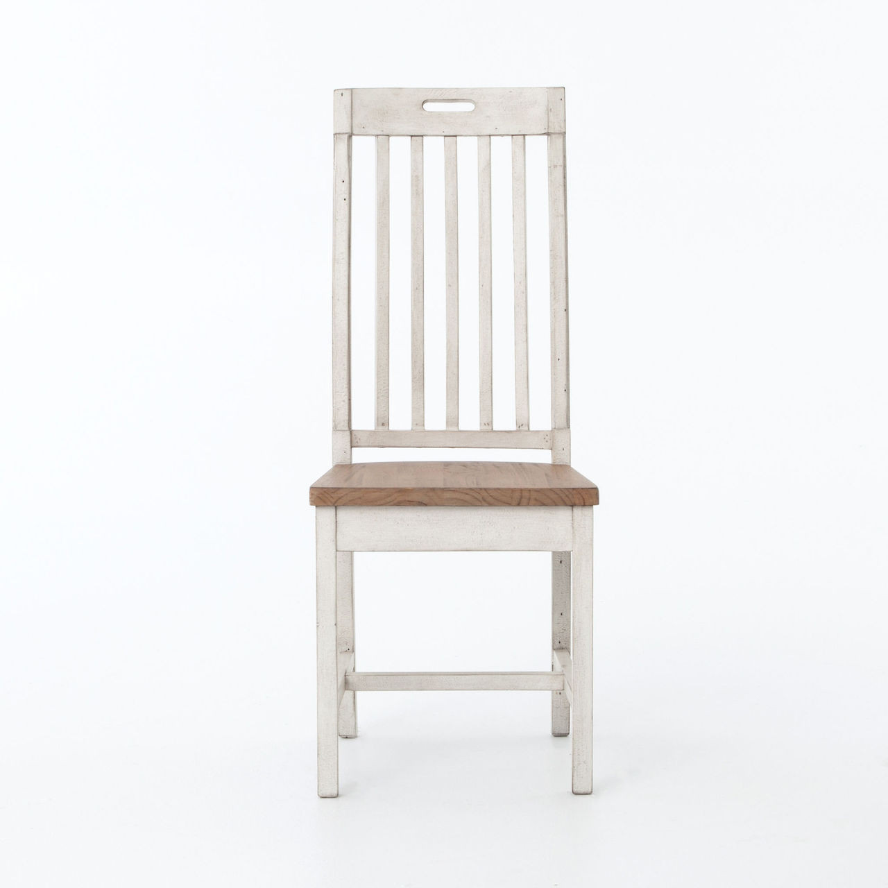 cintra rustic wood white dining room chair   zin home