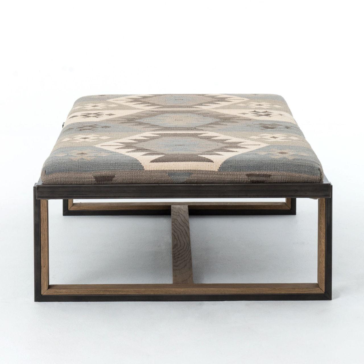 upholstered ottoman coffee table - Upholstered Ottoman