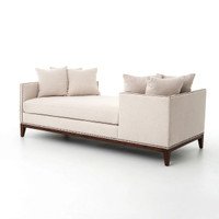 Kensington Beige Upholstered Double Chaise Daybed