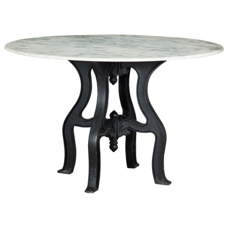 Tables Round Dining Tables French Industrial White Marble Top Round