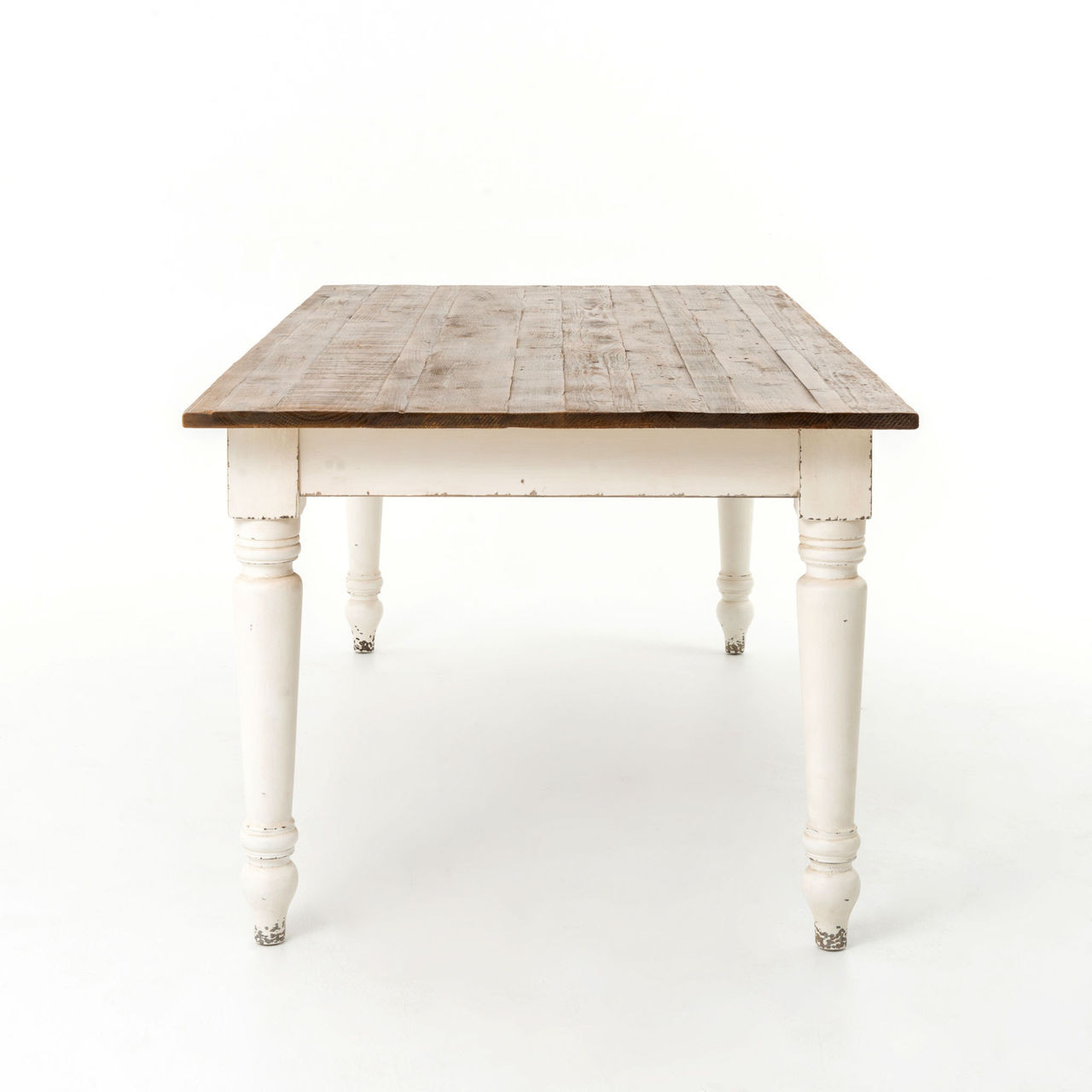Off White Dining Table Part - 17: ... Rustic Wood Off White Dining Table ...