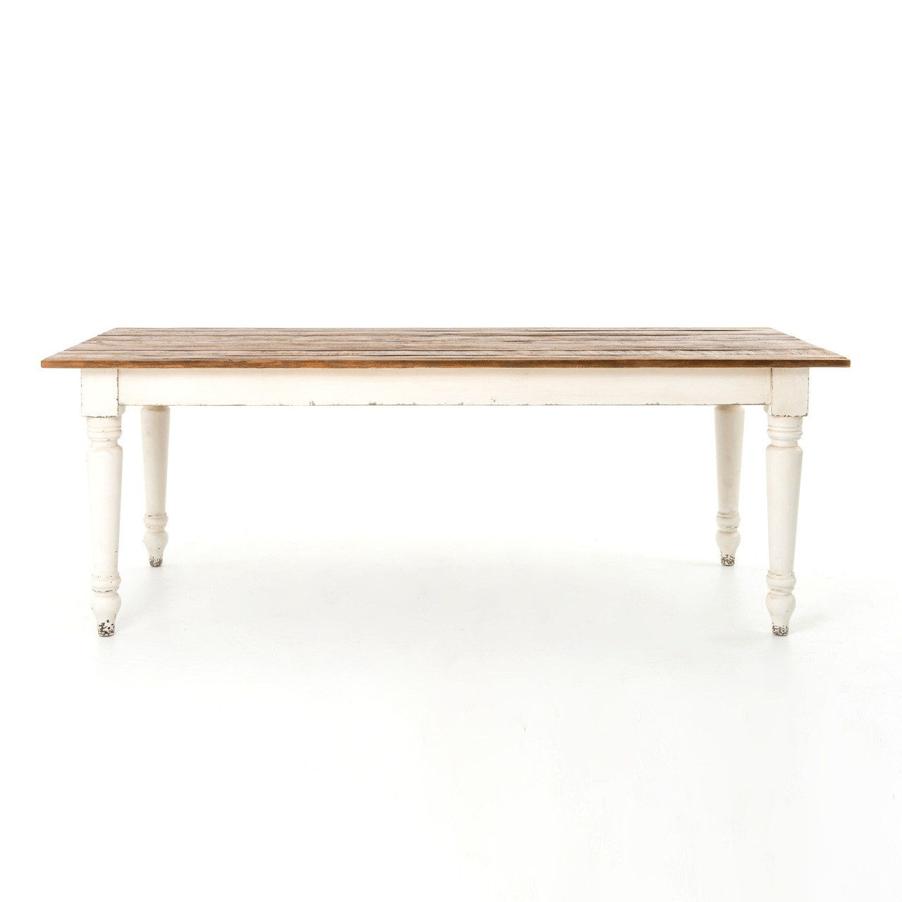 """Cottage 72"""" Reclaimed Wood White Dining Room Table"""