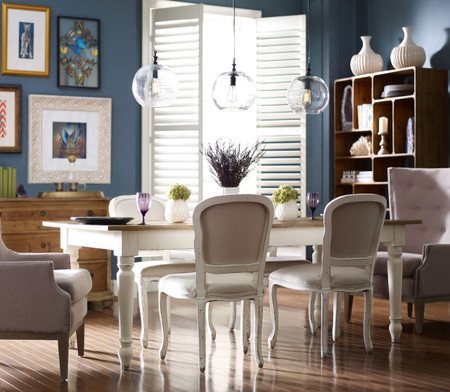 Cottage 72 Reclaimed Wood White Dining Room Table Zin Home
