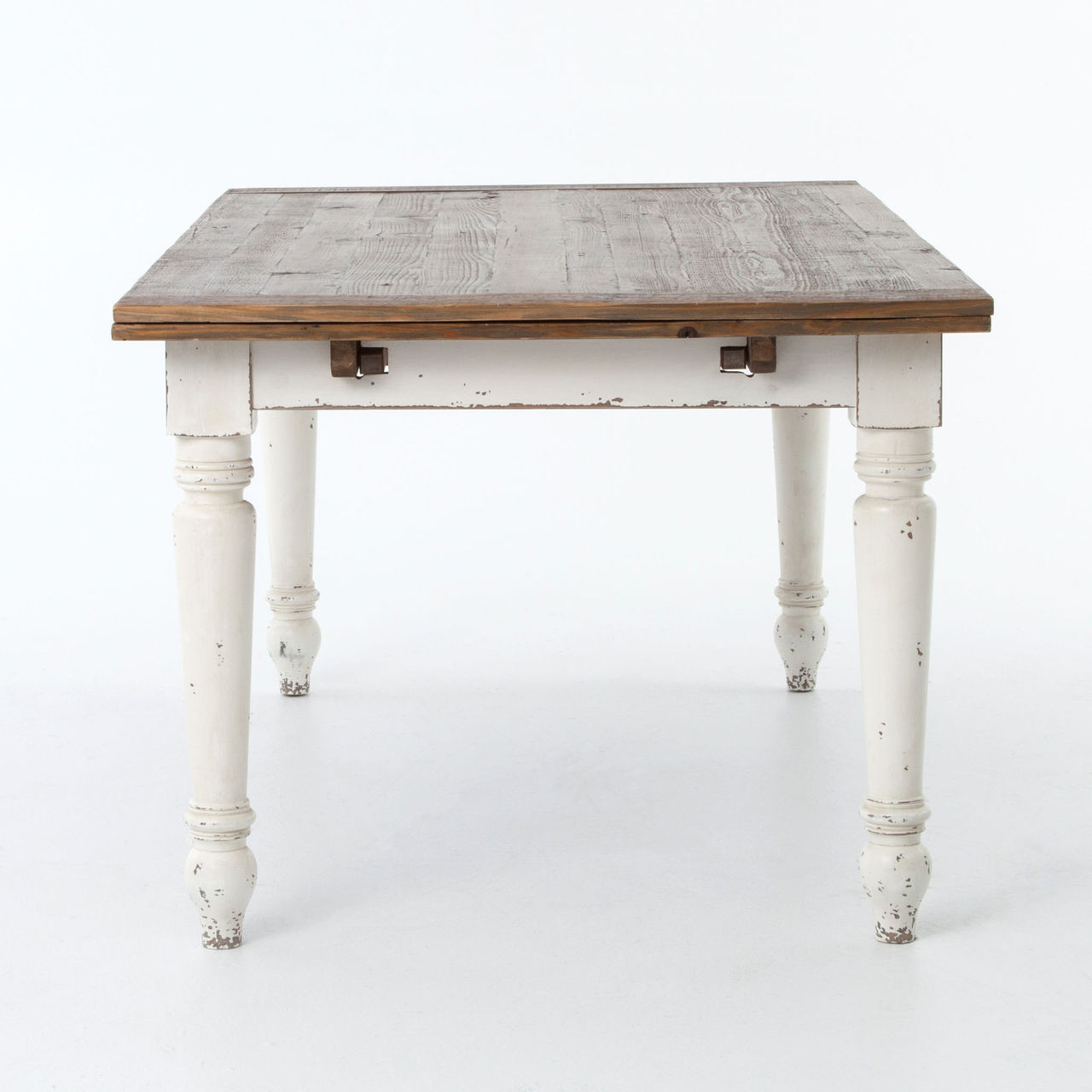 Cottage Reclaimed Wood White Expanding Dining Table 72 110  : Cottage72ReclaimedWoodWhiteExpandingDiningTable270487143318192212801280 from www.zinhome.com size 1280 x 1280 jpeg 98kB