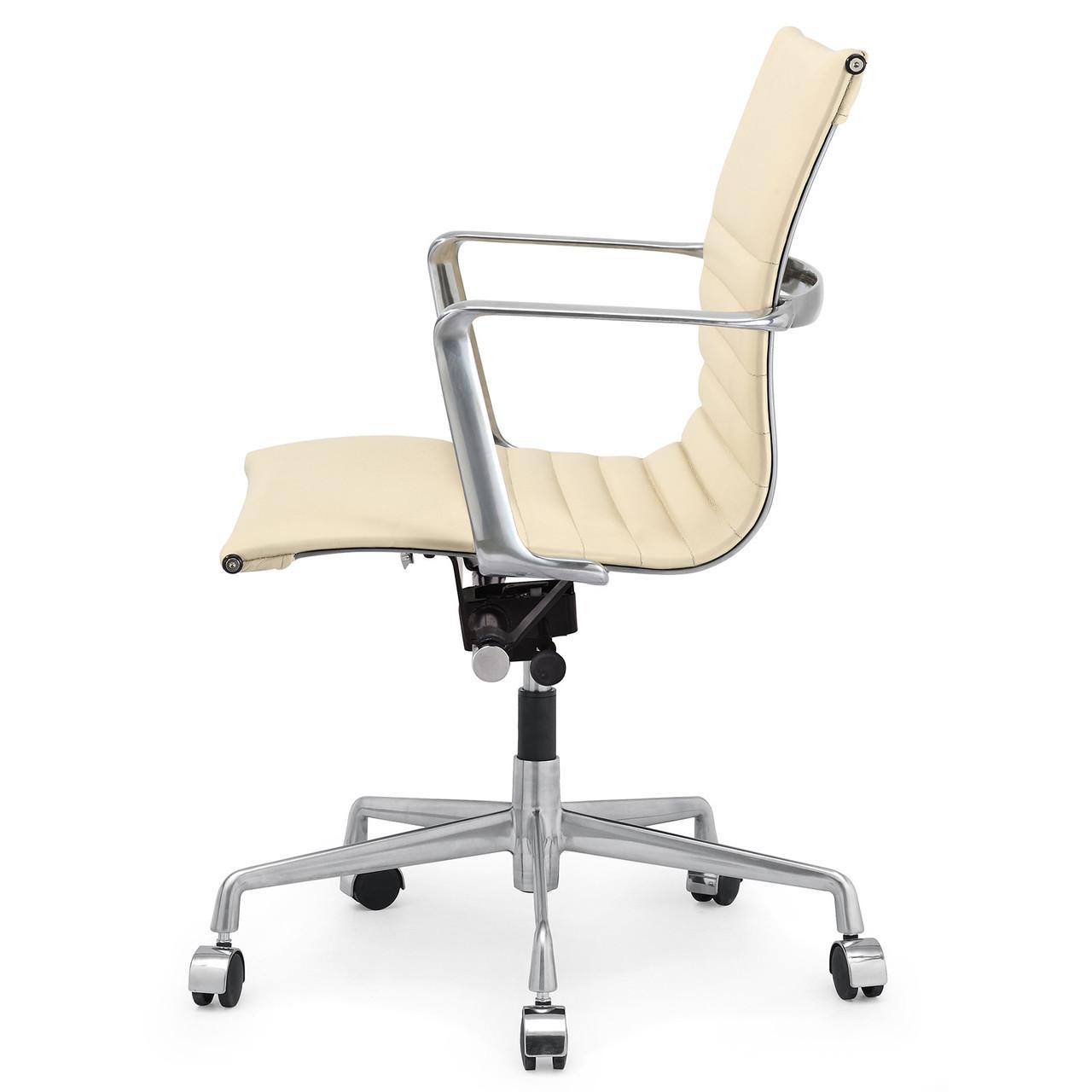 Beige Italian Leather M346 Modern Office Chairs Zin Home