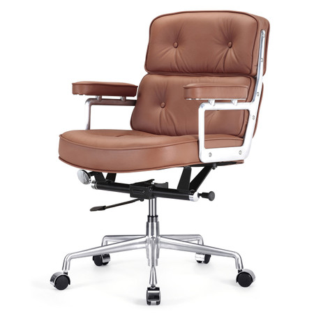 Brown Italian Leather M340 Executive Office Chair Zin Home