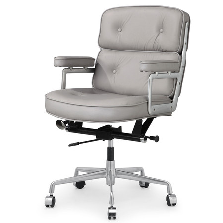 Grey Italian Leather M340 Executive Office Chair Zin Home