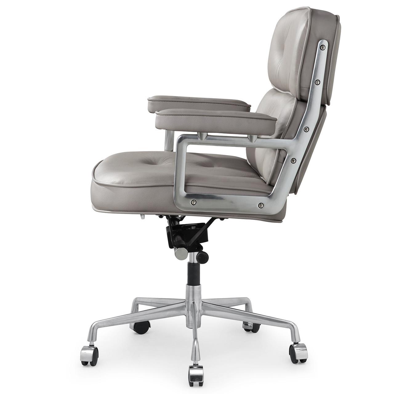 grey italian leather m340 executive office chair zin home
