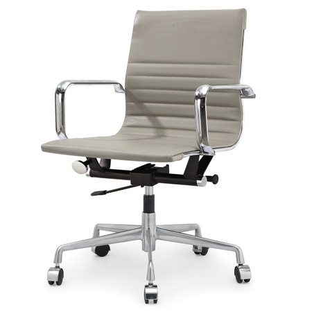 Grey Vegan Leather M348 Modern Office Chairs