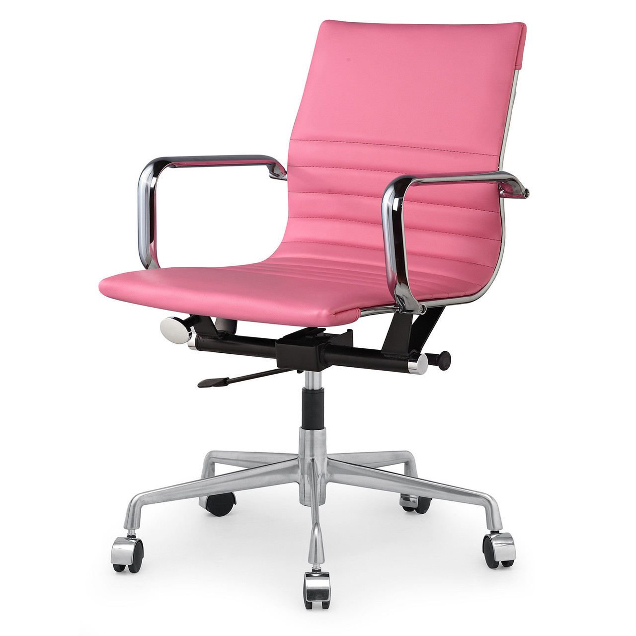 pink vegan leather m348 modern office chairs zin home. Black Bedroom Furniture Sets. Home Design Ideas