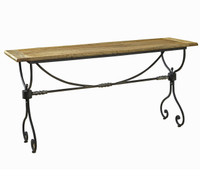 Lanworth Iron + Reclaimed Wood Console Table