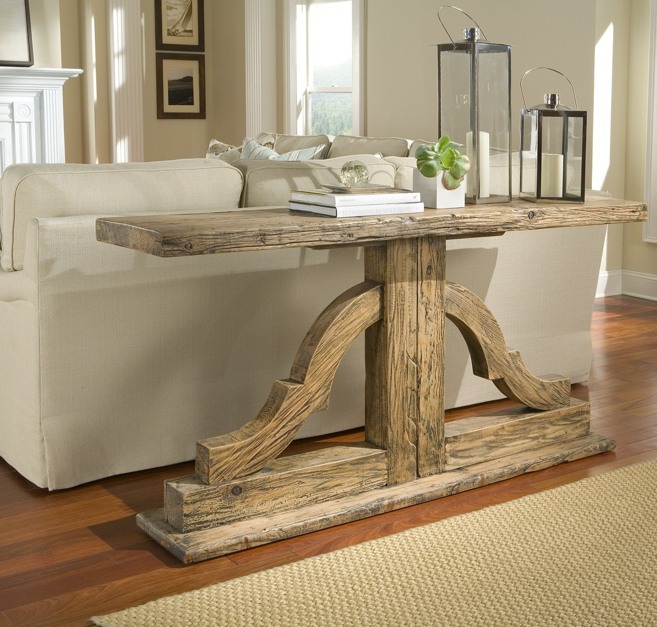 """Bracket Solid Wood Console Table 72"""" 