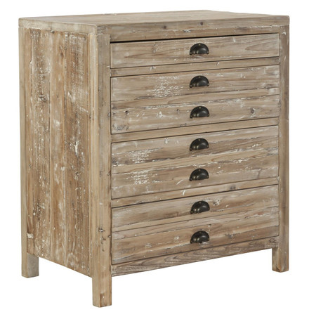 Apothecary Reclaimed Wood 4 Drawer Small Chest Zin Home