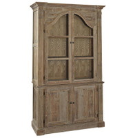 Arch Reclaimed Wood Sideboard with Hutch Cabinet