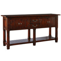 Williams Antiqued Dark Solid Mahogany Sideboard