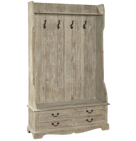 French Country Rustic Entry Storage Bench With Coat Rack Zin Home: storage bench with coat rack