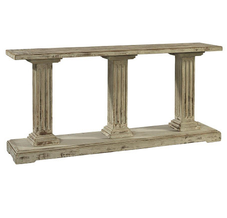 Deauville French Column Rustic Solid Wood Console Table