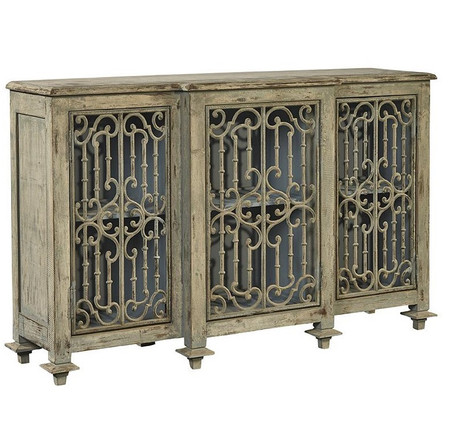 Chateau Villandry Antique French Gray Vintage Sideboard Buffet