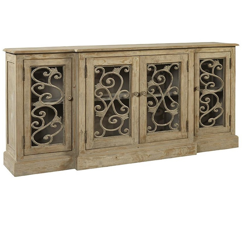 Chateau Chinon Rustic Grey Vintage Sideboard Buffet Zin Home